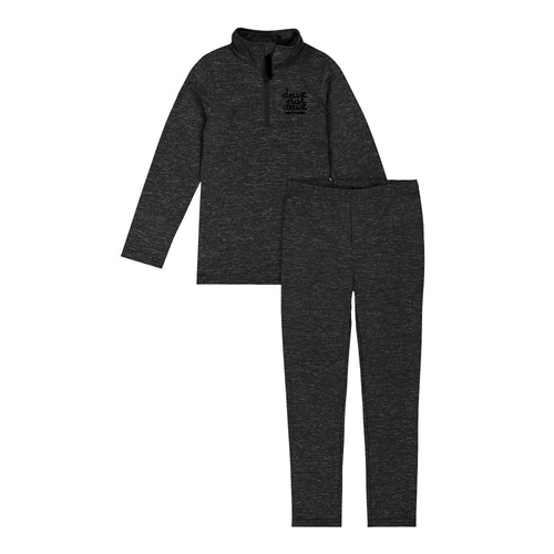 Deux Par Deux Thermal Baselayer Set- Black 2-3yr