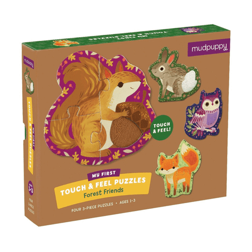 Forest Friends Touch and Feel Puzzle 3pc