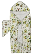 Load image into Gallery viewer, LouLou Lollipop Hooded Towel Set- Avocado