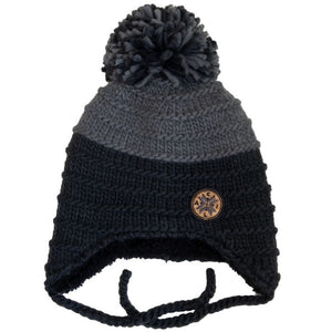 Calikids Infant Boys Two Tone Knit Hat