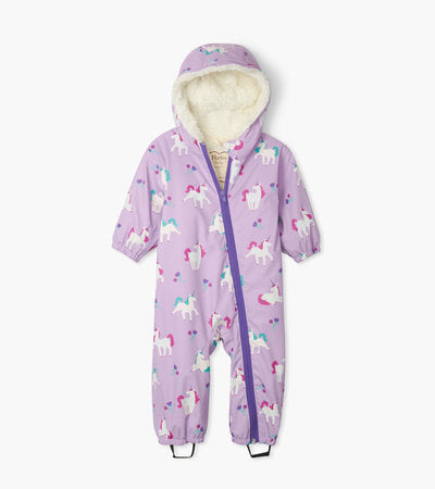 Hatley Playful Unicorns Colour Changing Baby Bundler