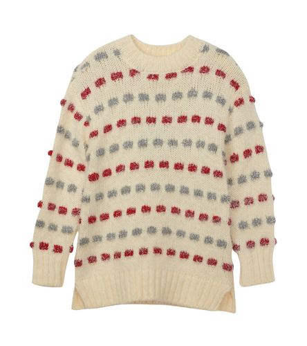 Hatley Holiday Stripe Basket Weave Sweater