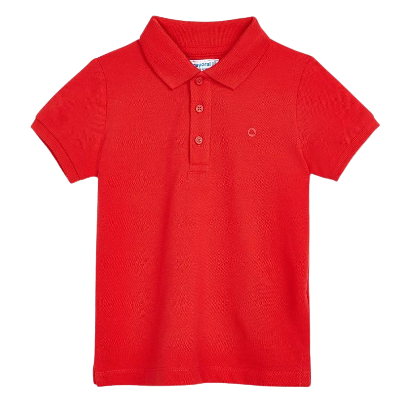 Mayoral Basic Short Sleeve Polo - Red - 7