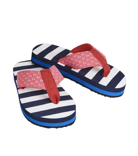 Hatley Nautical Stripes Flip Flops