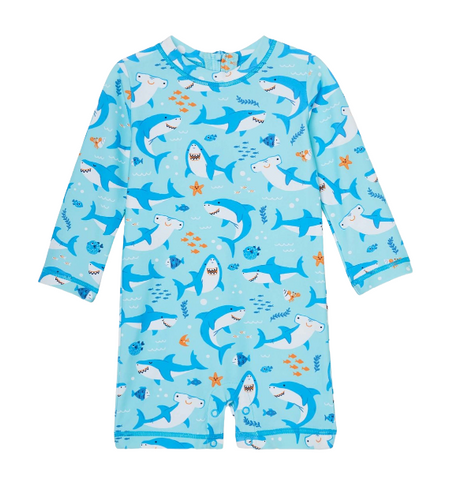 Hatley Shark Party Baby Rashguard