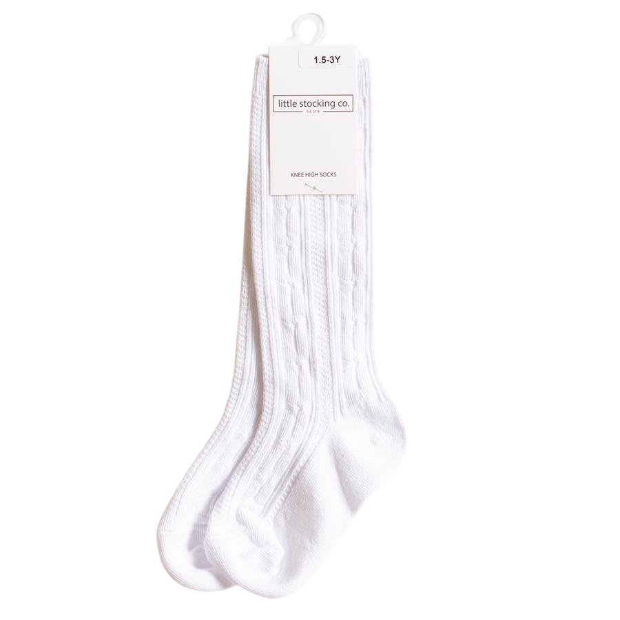 LSC White Knee High Socks