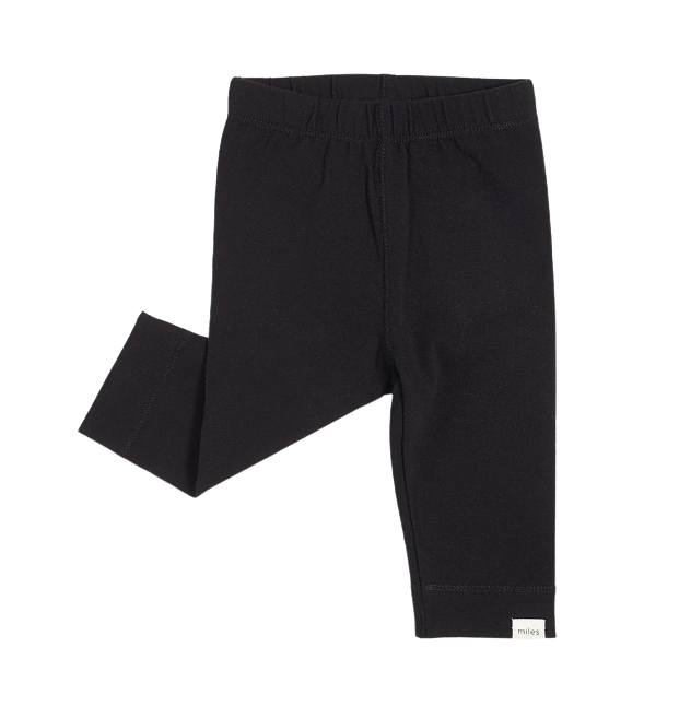 Miles Baby Black Knit Leggings 24m