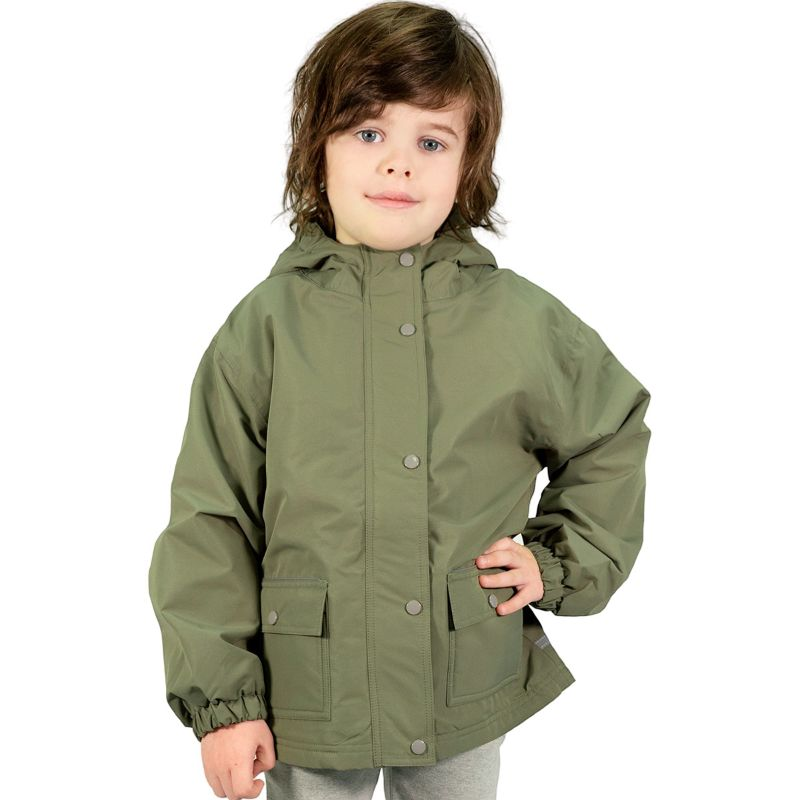 Jan&Jul Fleece Lined Rain Jacket Green 4T