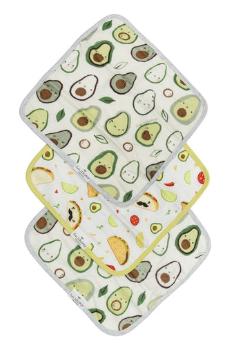 Lou Lou Lollipop Washcloth 3pc. Set- Avocado