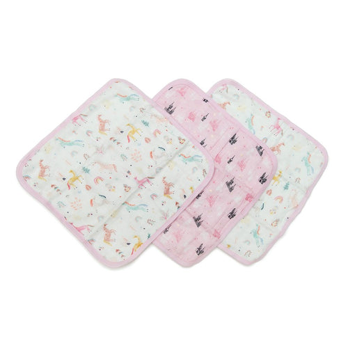 LouLou Lollipop Washcloth 3pc. Set- Unicorn Dream