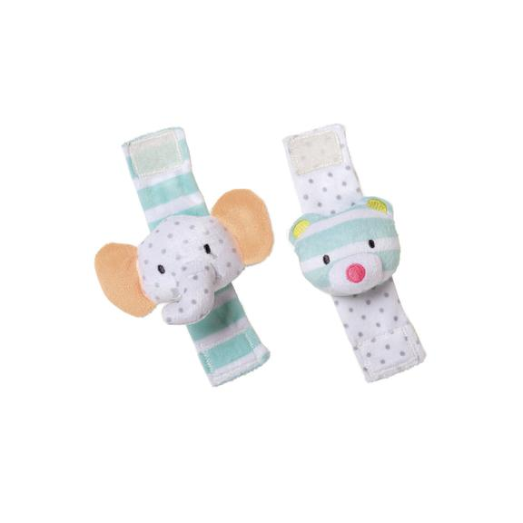 Elephant & Bear Wrist Rattle