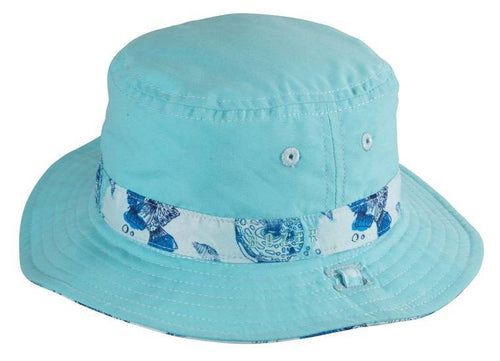 Dozer Baby Boys Bucket Hat - Bubble Blue 0-12m