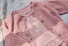 Load image into Gallery viewer, Fixoni Dusty Rose Knit Cardigan