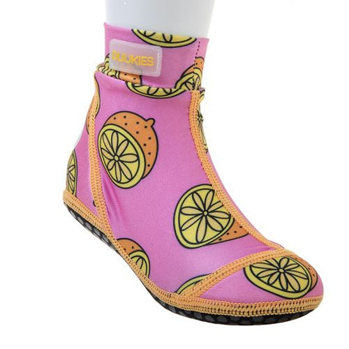 Duukies Beach Socks Pink Lemons 13-13.5