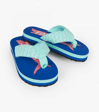 Load image into Gallery viewer, Hatley Fintastic Shark Flip Flops