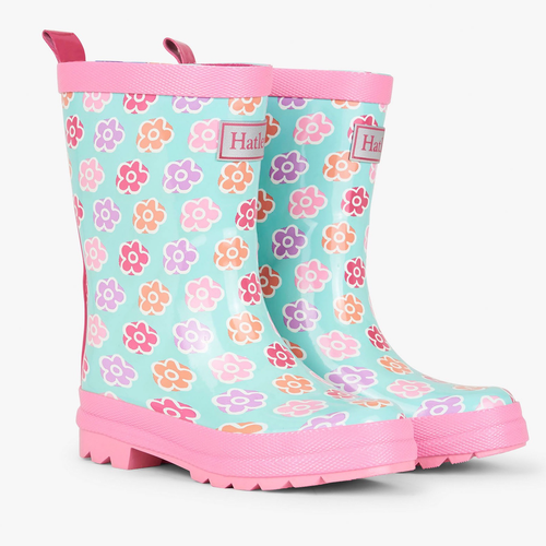 Hatley Flower Sketches Rain Boot - Toddler 4