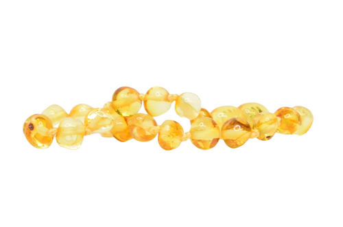 Amber Teething Anklet- Honey