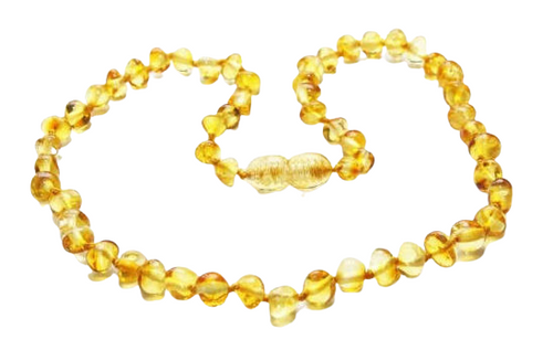 Amber Teething Necklace- Honey Round