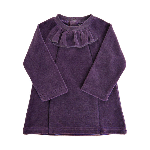 Minymo Plum Velour Dress