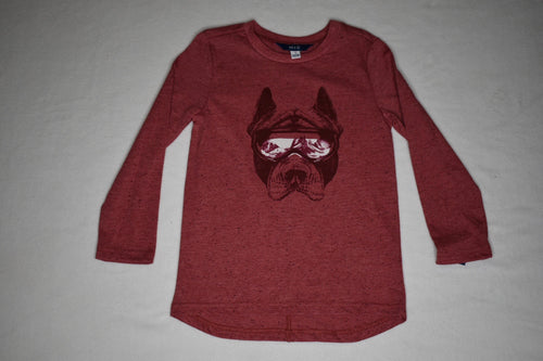 MID Red Mix Bulldog LS Tee