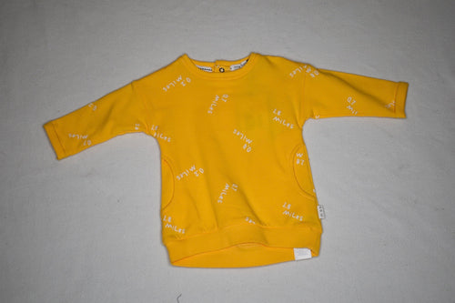Miles Baby Yellow Sweatshirt Dress - 3m