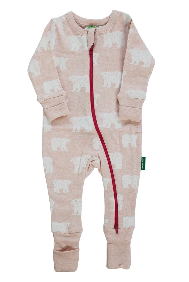 Parade - Light Pink Bears 2 Way Zip Up