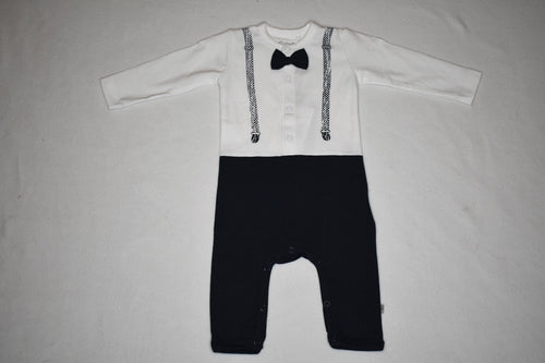 Minymo Long Sleeve Onesie with Bowtie - 1m