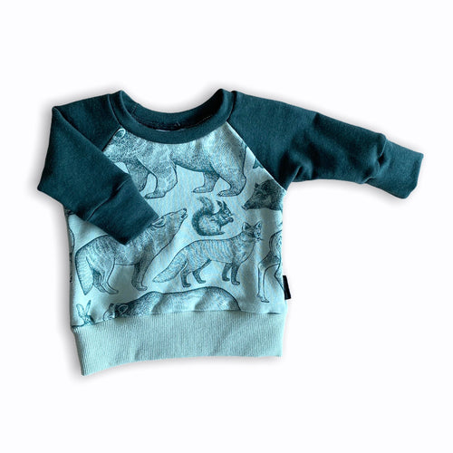 Plum Tree Kids Forest Green Animals Sweater