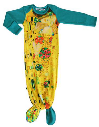 Inchworm Alley Klimt Knotted Gown O/S