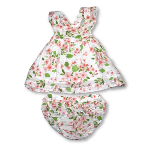 Angel Dear Cherry Blossom Pinafore Top & Bloomer