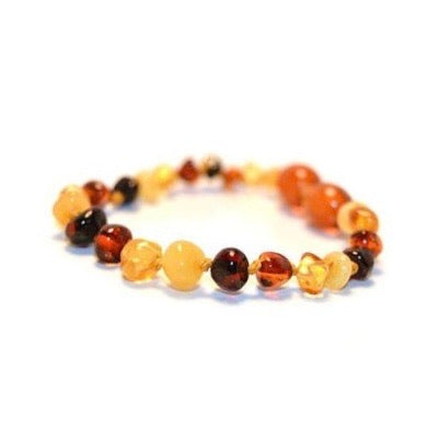 Amber Teething Anklet - Multi Colour