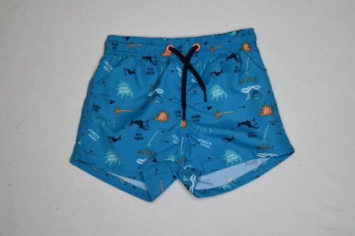 Losan - Swim Short with Blue Shark - 12-18m