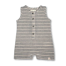 Load image into Gallery viewer, Me & Henry - Grey White Stripe Playsuit