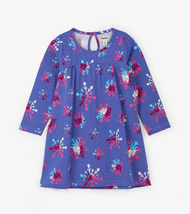 Hatley Purple Snowflake Dress - 4