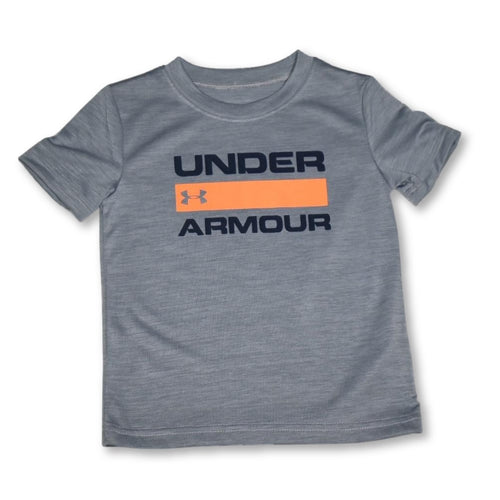 UA Mod Grey Orange Stripe Tee