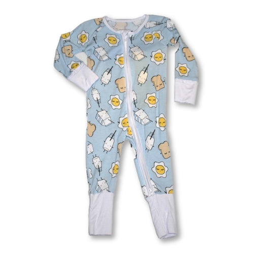 Little Sleepies - Breakfast Blue Zip Up