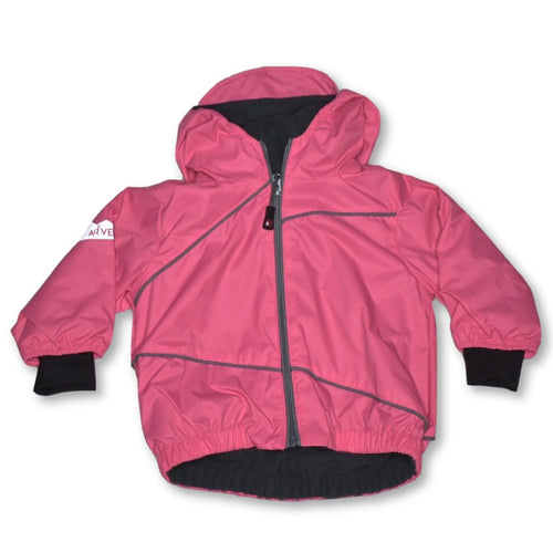 Calikids Fleece Lined Rain Jacket Bubblegum