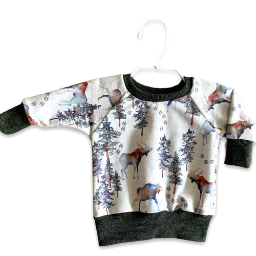 Plum Tree Kids Moose Crewneck Sweater