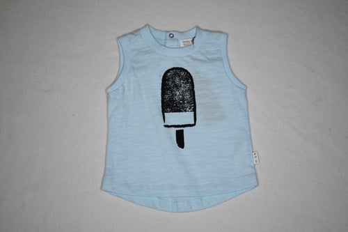 Miles Baby Blue Popsicle Sleeveless Tee - 6m