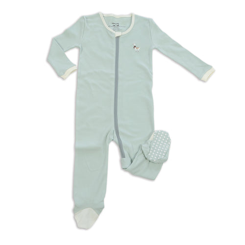 Silkberry Baby Cotton Sleeper Mint Green