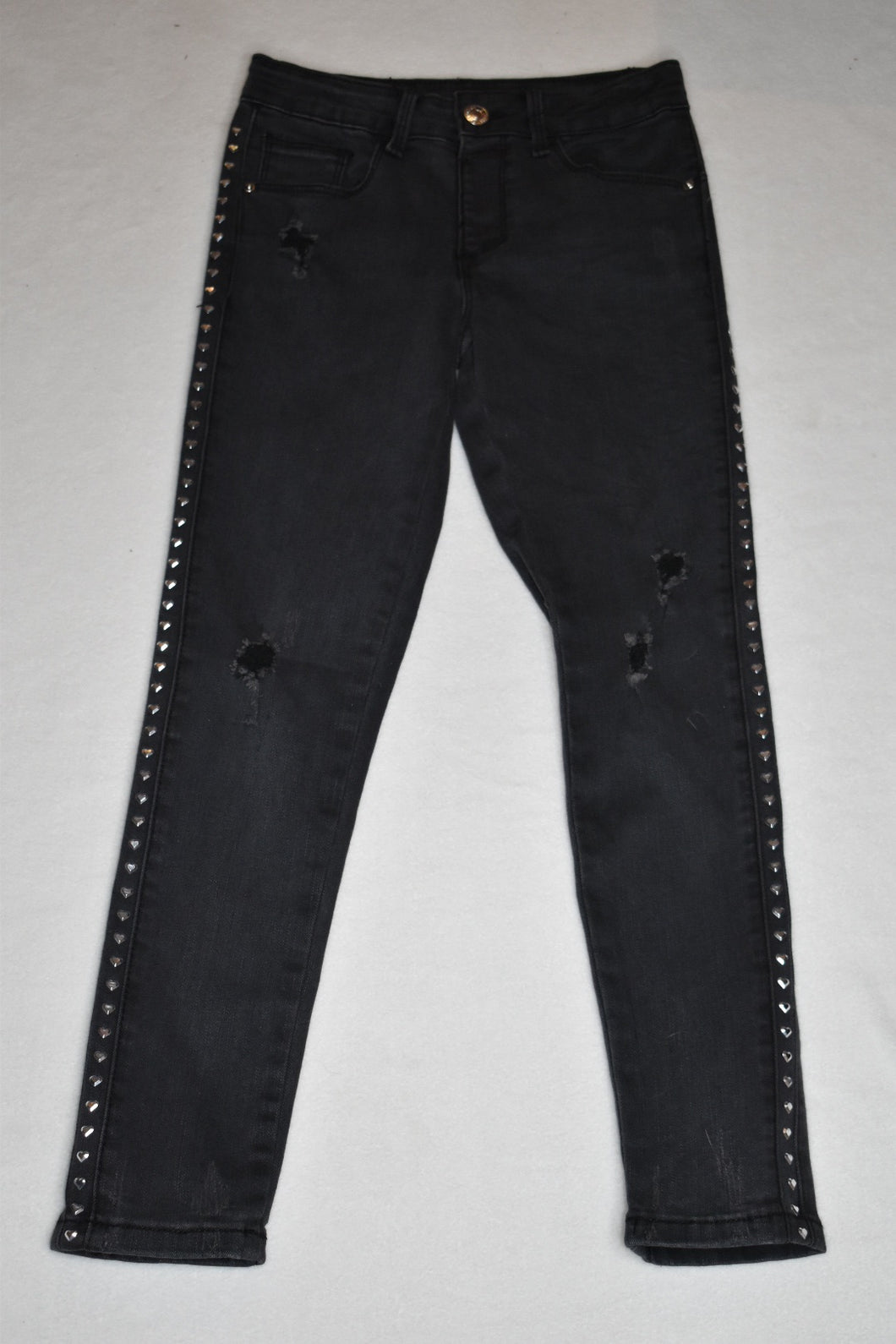 Dex - Black Denim Pant with Studs