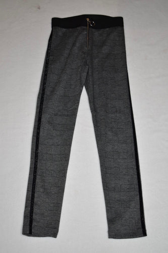 Losan - Stretchy Check Pant with Side Glitter