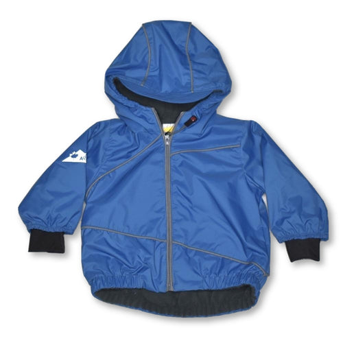 Calikids Fleece Lined Rain Jacket Deep Ocean