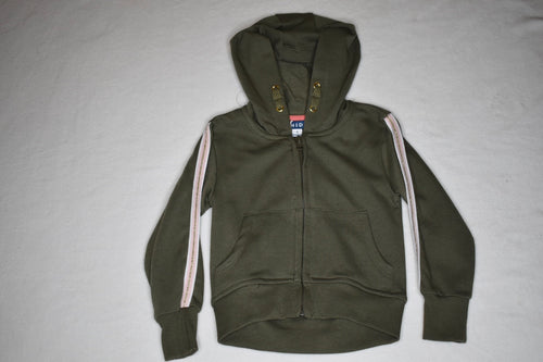 MID Khaki Hoody w Stripes