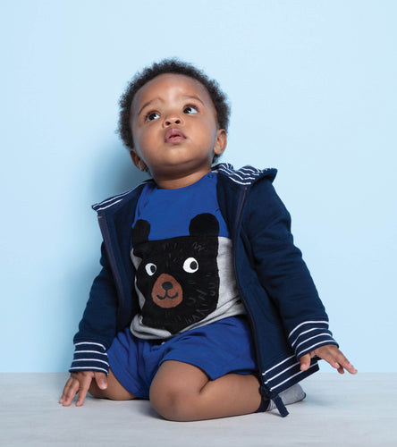Hatley Colour Block Bear Tee & Short Set