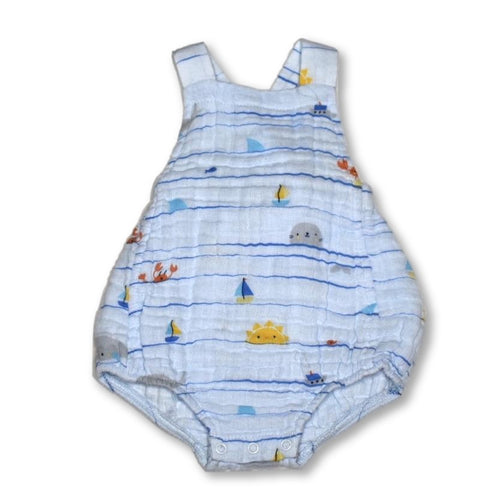 Angel Dear Sea Stripes Retro Sunsuit