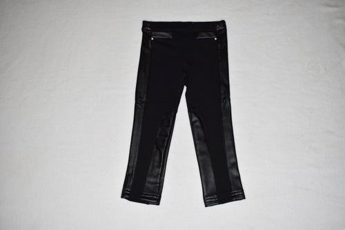 Losan - Black Jegging w Faux Leather Accent
