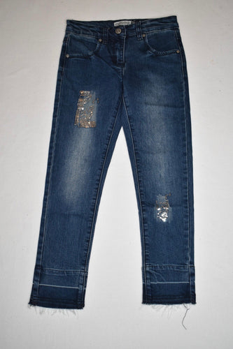 Minymo Sequined Patch Denim Jeans - 8
