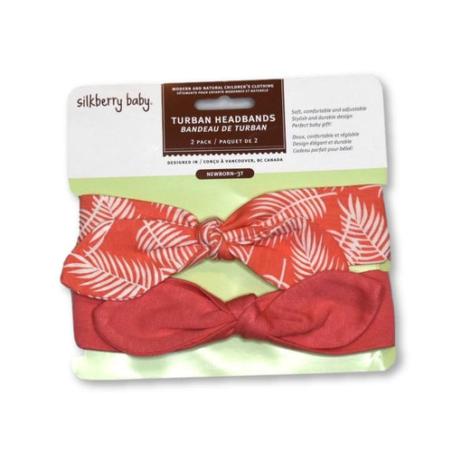 Silkberry Coral Leaves Headbands