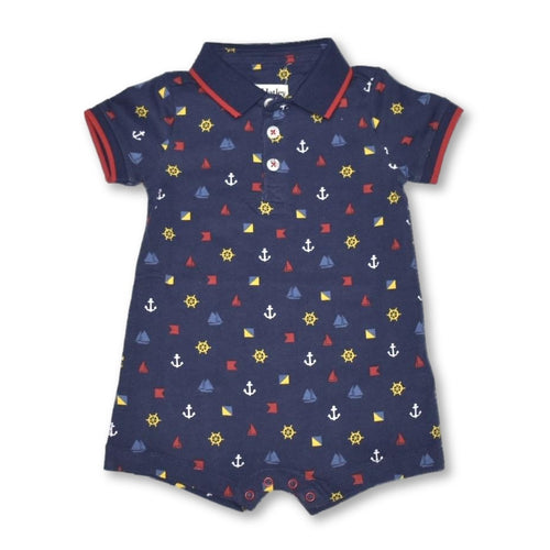 Hatley Nautical Emblems Polo Romper